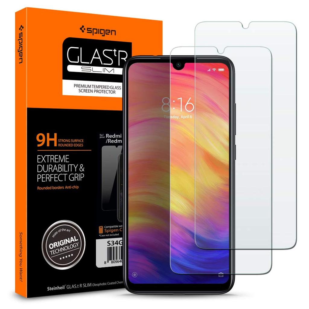 Spigen® (x2Pack) GLAS.tR™ S34GL26119 Xiaomi Redmi Note 7 Premium Tempered Glass Screen Protector