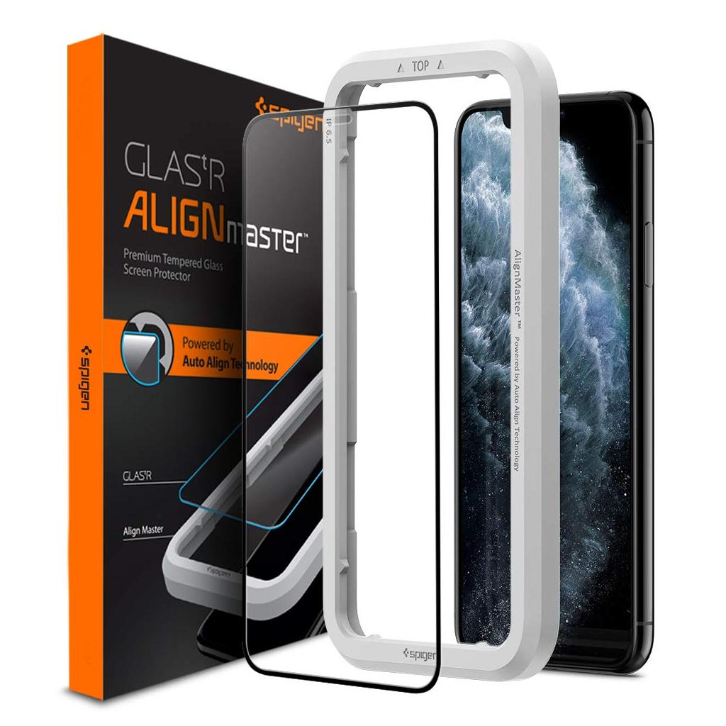 Spigen® GLAS.tR ALIGNmaster™ Full Cover AGL00098 iPhone 11 Pro Max / XS Max Premium Tempered Glass Screen Protector