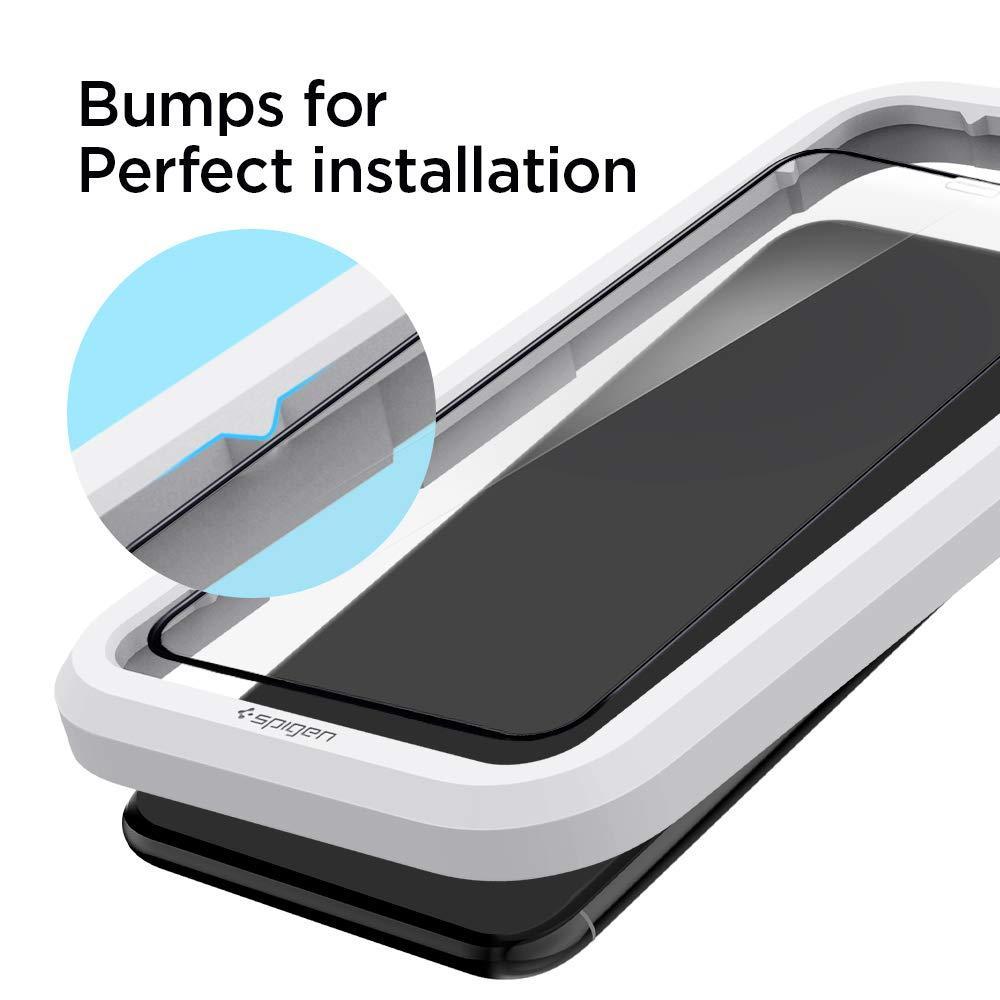Spigen® GLAS.tR ALIGNmaster™ Full Cover AGL00114 iPhone 11 Pro / XS / X Premium Tempered Glass Screen Protector