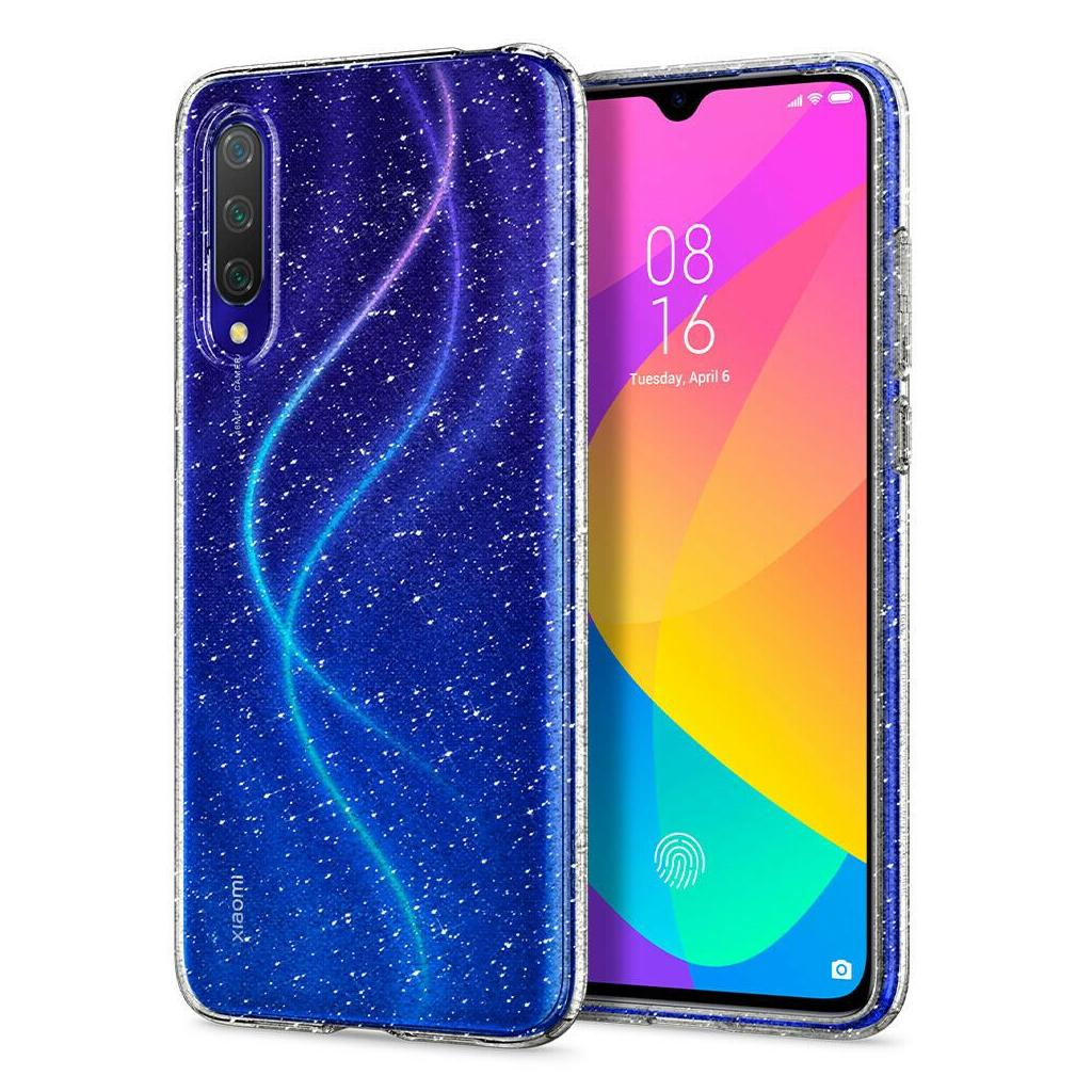 Spigen® Liquid Crystal Glitter™ S51CS26399 Xiaomi Mi A3 Case - Crystal Quartz