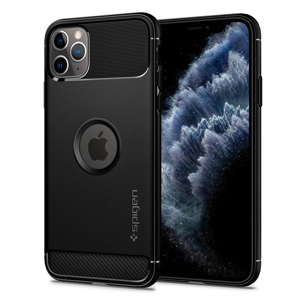 Spigen® Rugged Armor™ 075CS27133 iPhone 11 Pro Max Case - Matte Black