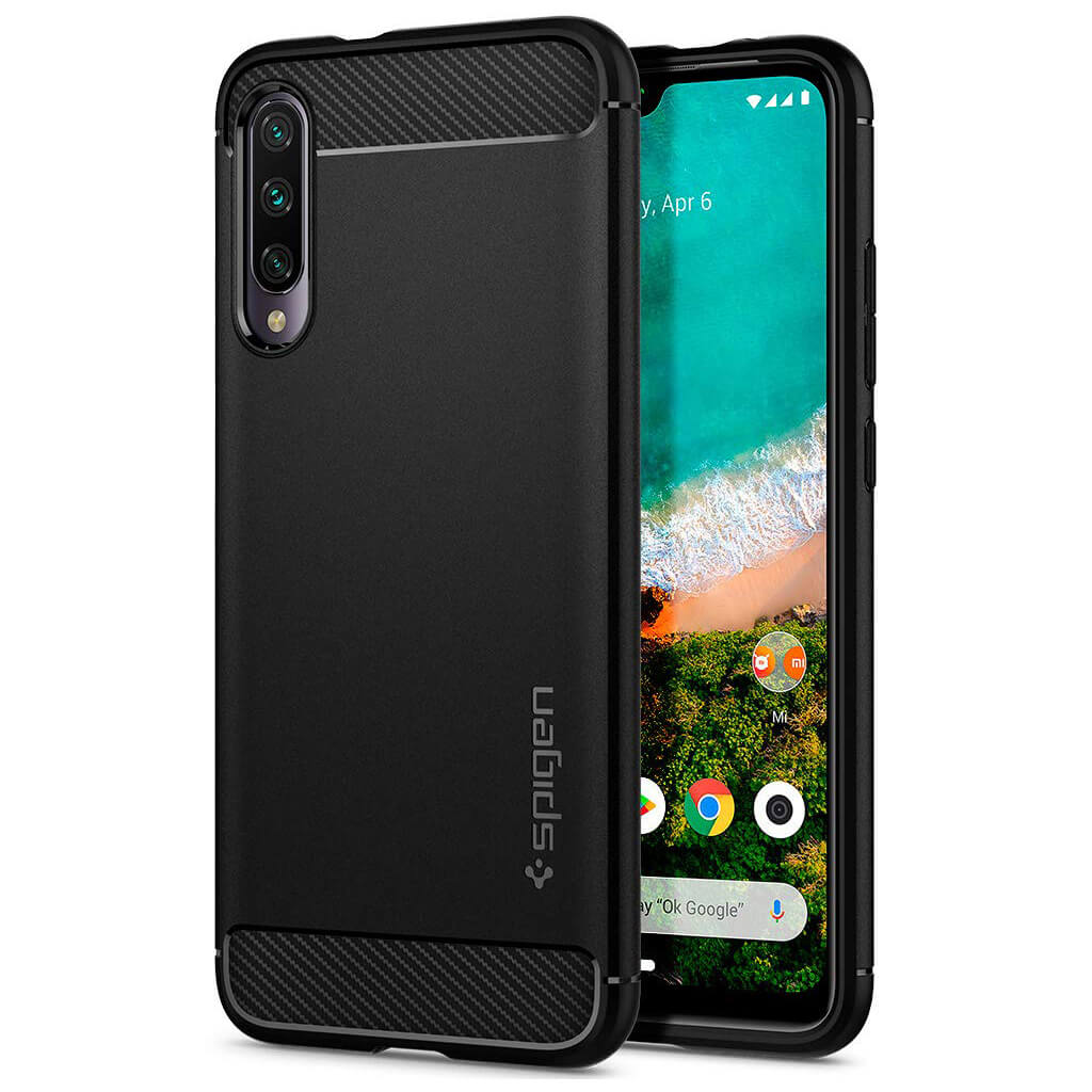 Spigen® Rugged Armor™ S51CS26397 Xiaomi Mi A3 Case - Matte Black