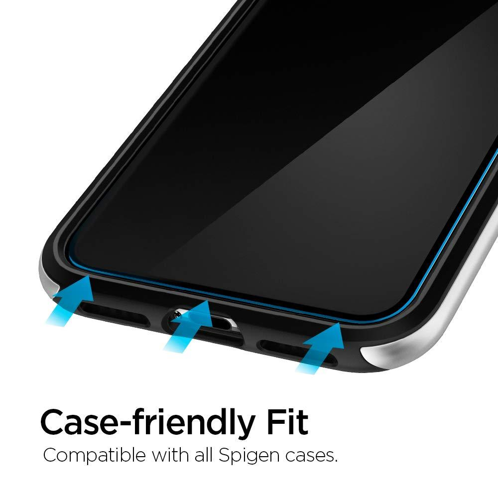 Spigen® (x2Pack) GLAS.tR ALIGNmaster™ AGL00093 iPhone 11 Pro Max / XS Max Premium Tempered Glass Screen Protector