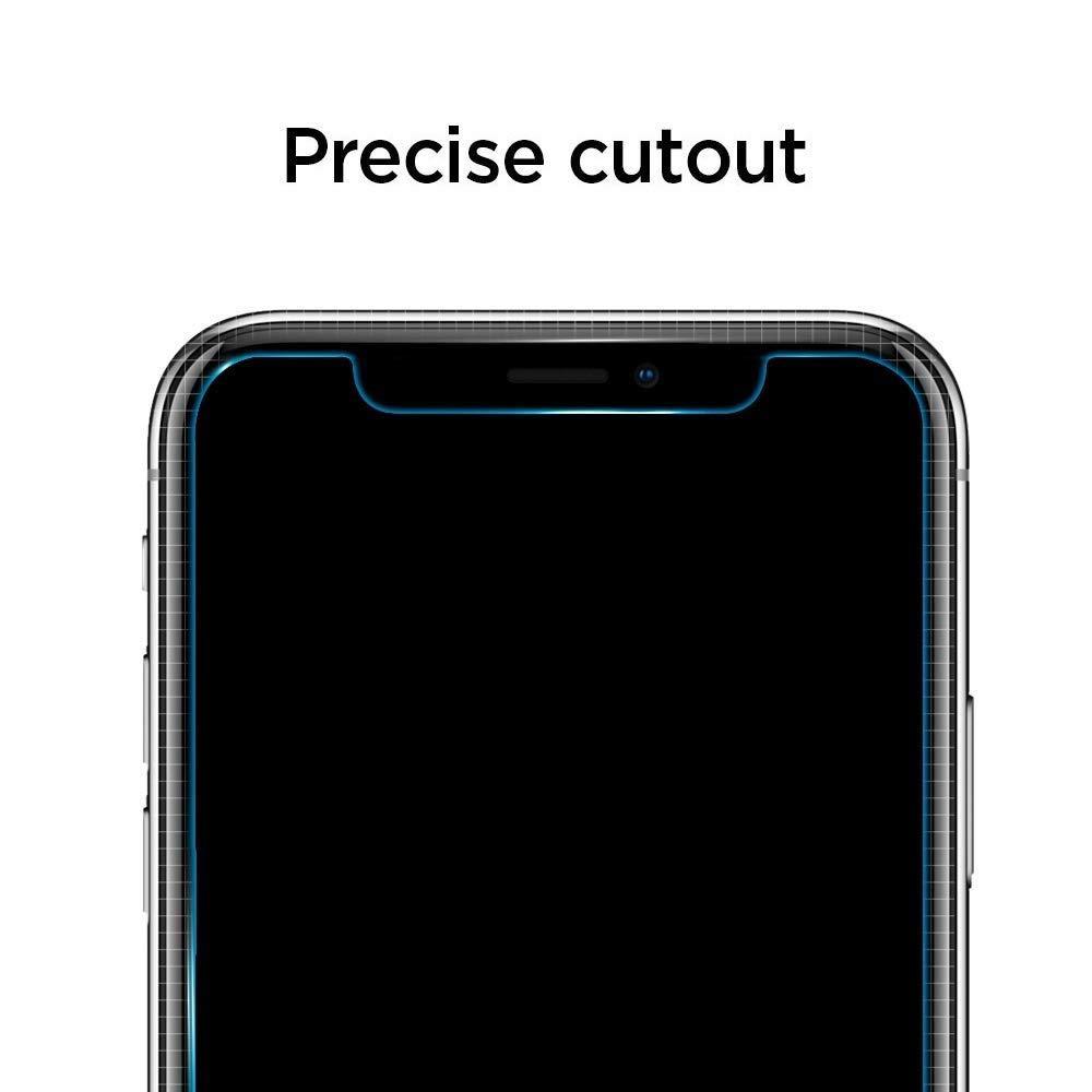 Spigen® (x2Pack) GLAS.tR ALIGNmaster™ AGL00109 iPhone 11 Pro / XS / X Premium Tempered Glass Screen Protector