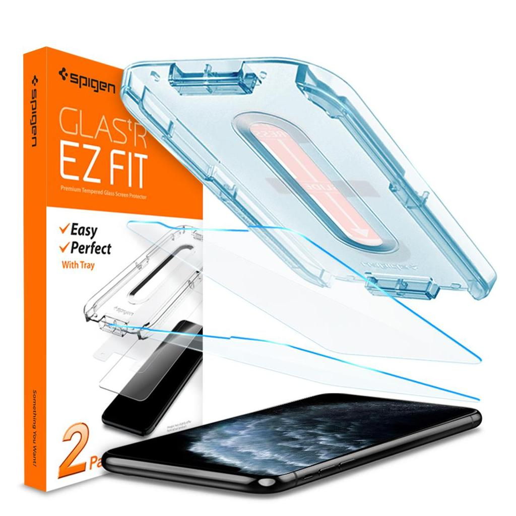Spigen® (x2Pack) GLAS.tR EZ FIT™ 063GL25358 iPhone 11 Pro / XS / X Premium Tempered Glass Screen Protector