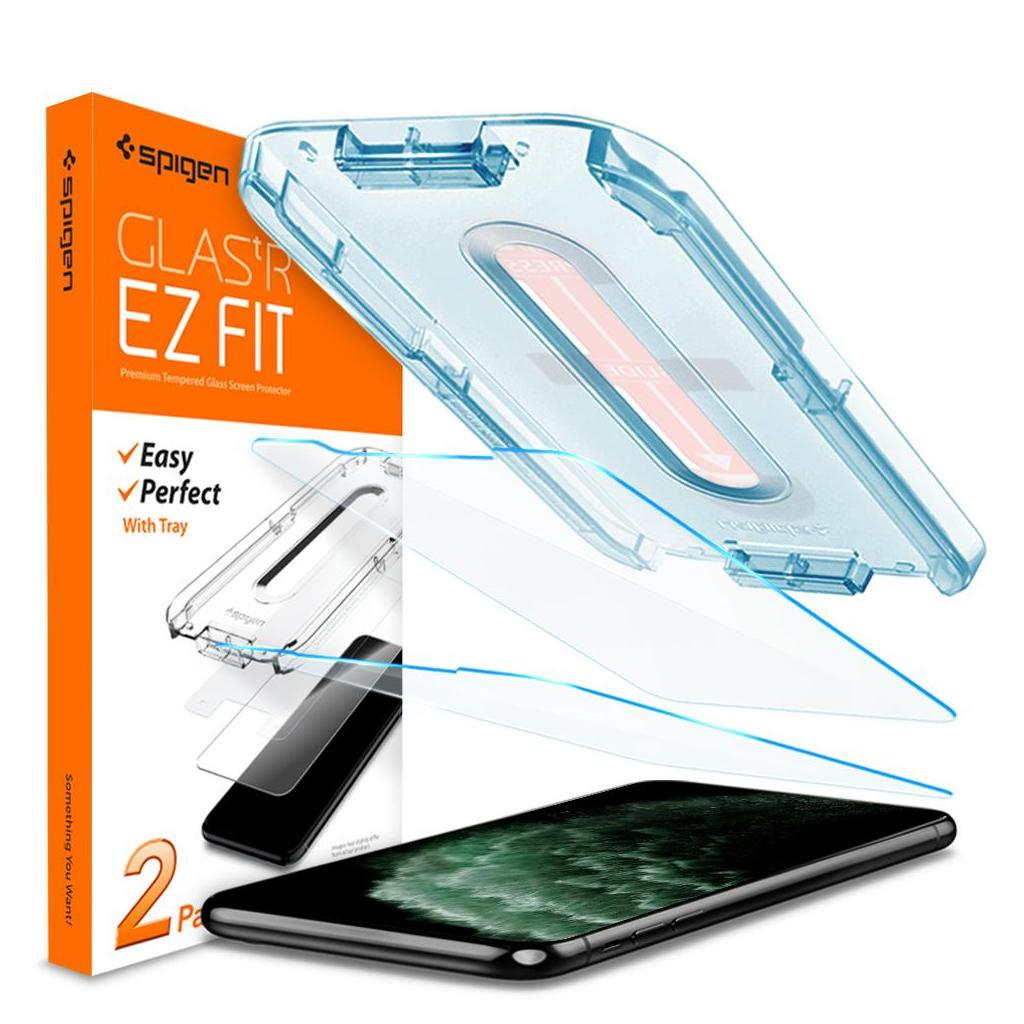 Spigen® (x2Pack) GLAS.tR EZ FIT™ 065GL25359 iPhone 11 Pro Max / XS Max Premium Tempered Glass Screen Protector