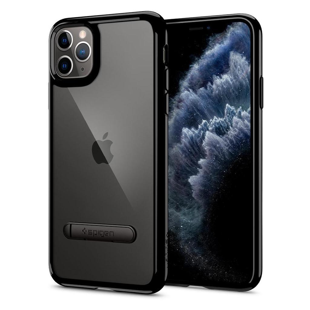 Spigen® Ultra Hybrid S™ 075CS27138 iPhone 11 Pro Max Case - Jet Black