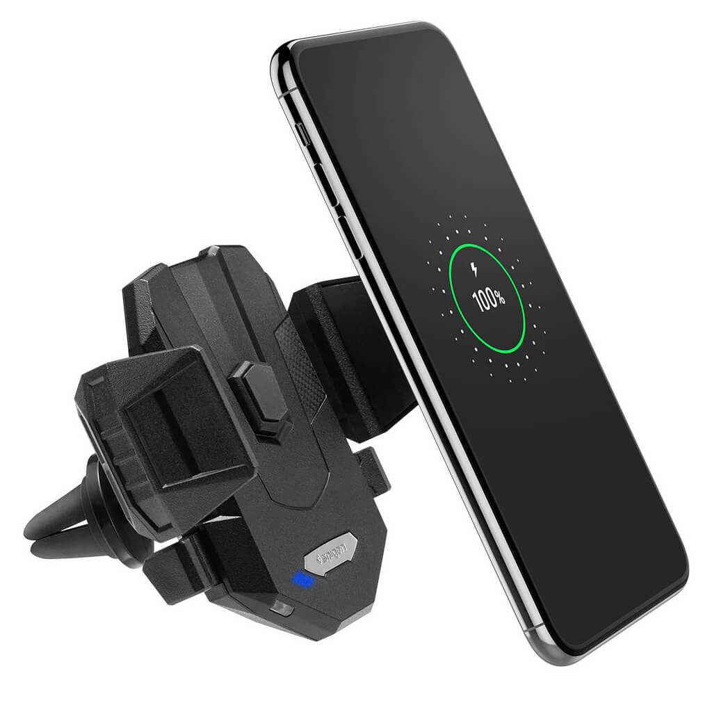 Spigen® Essential® X35W 000CG22761 Fast Wireless Car Charger with Air Vent Holder - Black