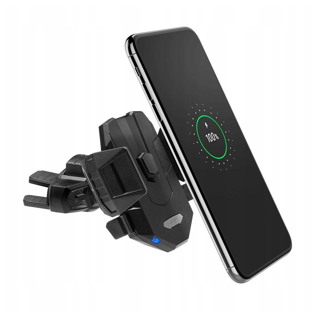 Spigen® Essential® X35W 000CP25520 Fast Wireless Car Charger with CD Slot Holder - Black