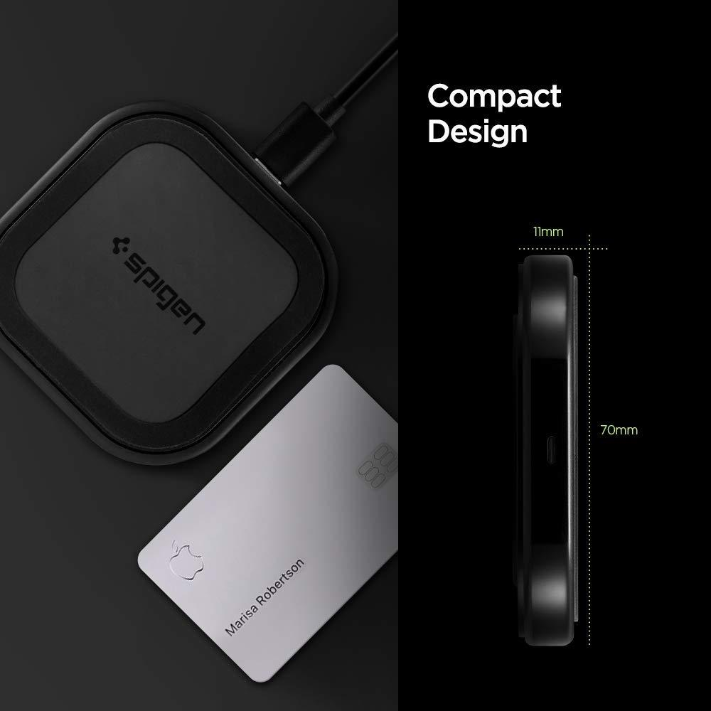 Spigen® SteadiBoost™ F309W 000CH26041 Compact Qi Fast Wireless Charger - Black