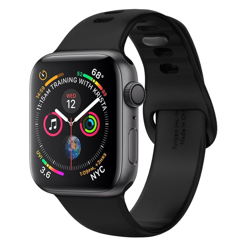 Spigen® Air Fit™ 062MP25400 Apple Watch Series 5 / 4 / 3 / 2 / 1 (44mm / 42mm) Silicone Band - Black