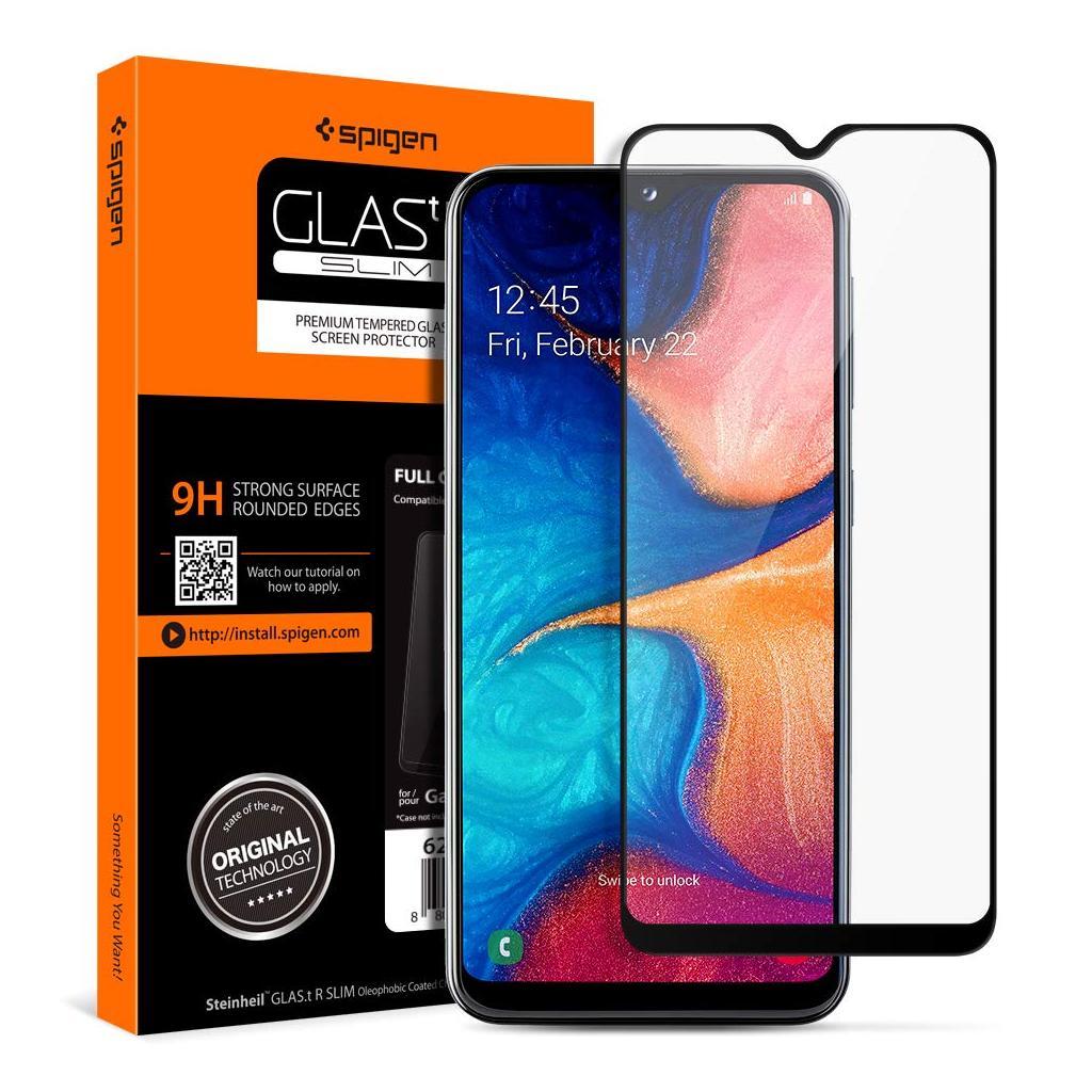 Spigen® GLAS.tR™ Full Cover 624GL27014 Samsung Galaxy A20e / A10e Premium Tempered Glass Screen Protector