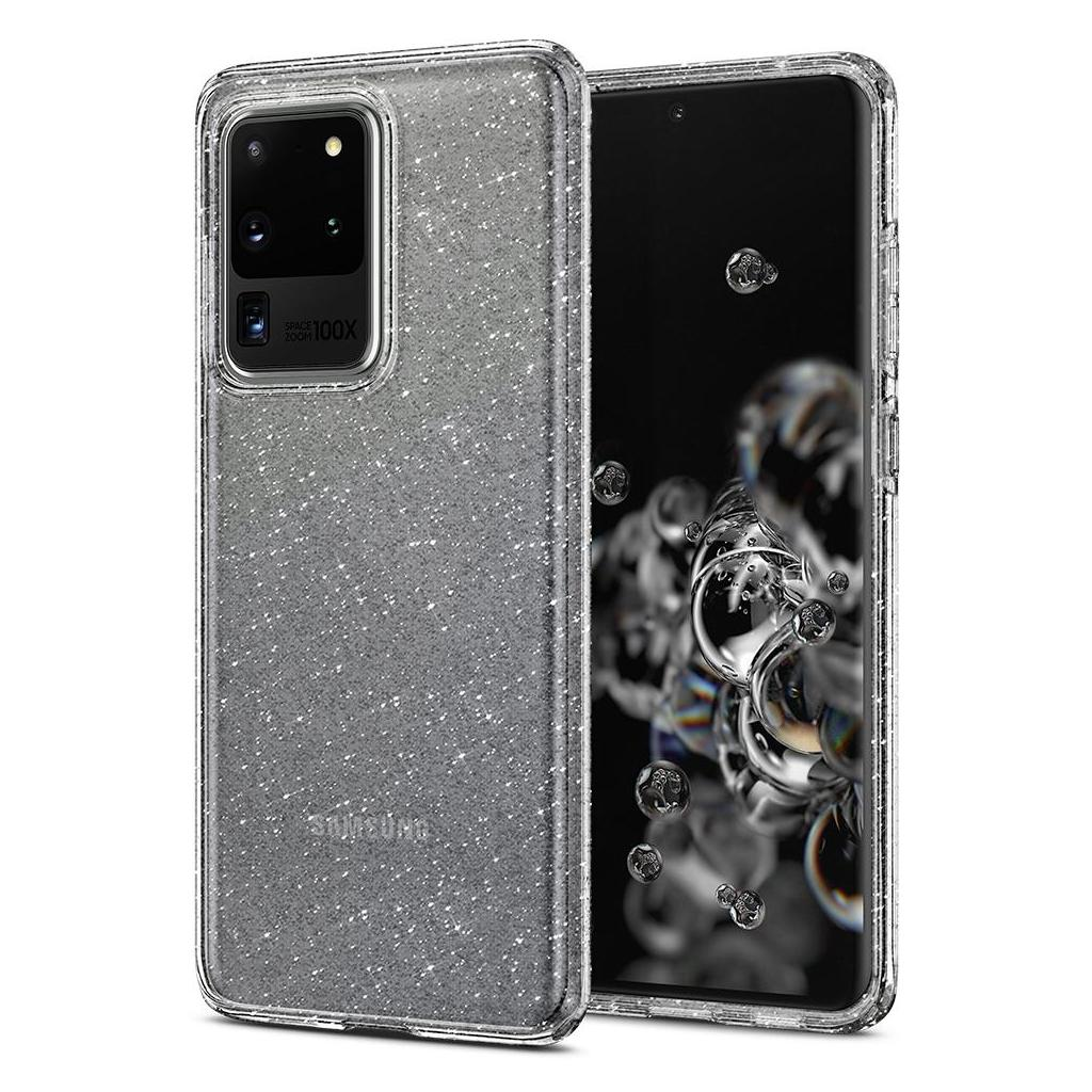 Spigen® Liquid Crystal Glitter™ ACS00710 Samsung Galaxy S20 Ultra Case - Crystal Quartz