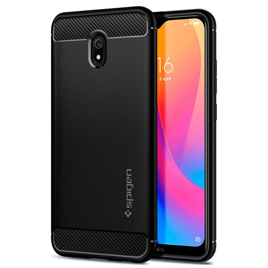 Spigen® Rugged Armor™ ACS00386 Xiaomi Redmi 8A - Matte Black