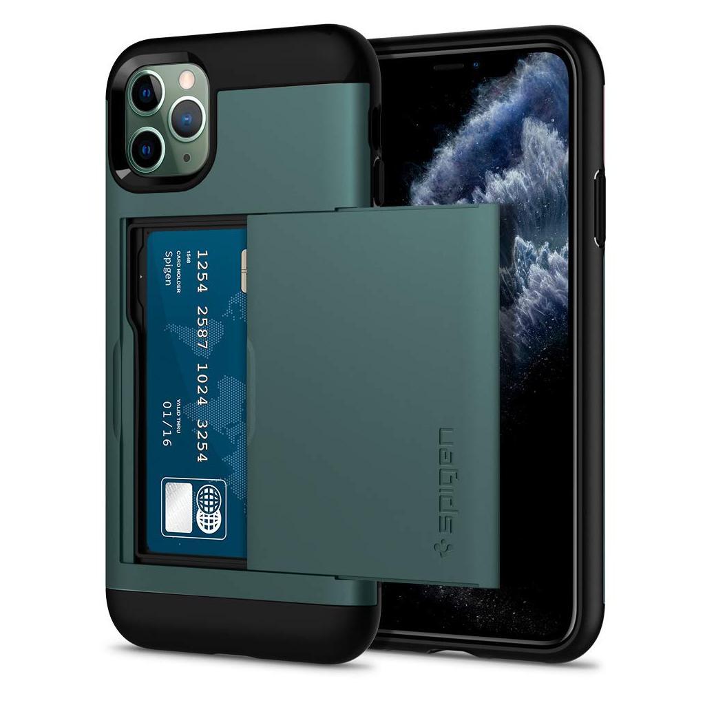 Spigen® Slim Armor CS™ ACS00413 iPhone 11 Pro Max Case - Midnight Green