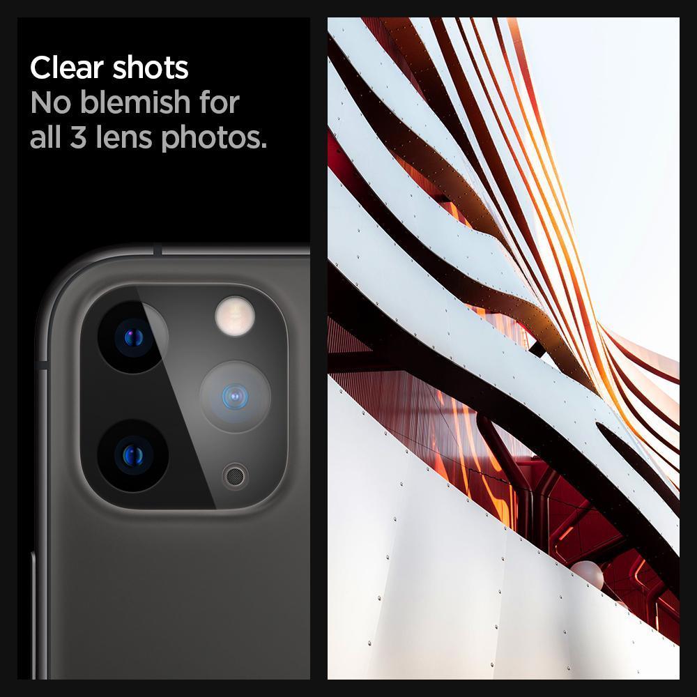 Spigen® x2Pack GLAS.tR™ AGL00500 iPhone 11 Pro Max / 11 Pro Full Cover Premium Tempered Glass Camera Lens Protector – Black