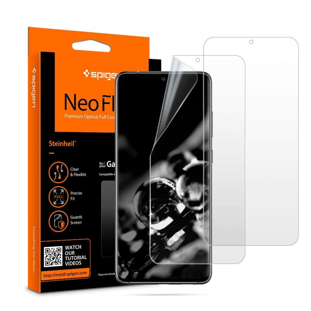 Spigen® (x2Pack) Neo Flex™ HD AFL00633 Samsung Galaxy S20 Ultra Premium Screen Protector