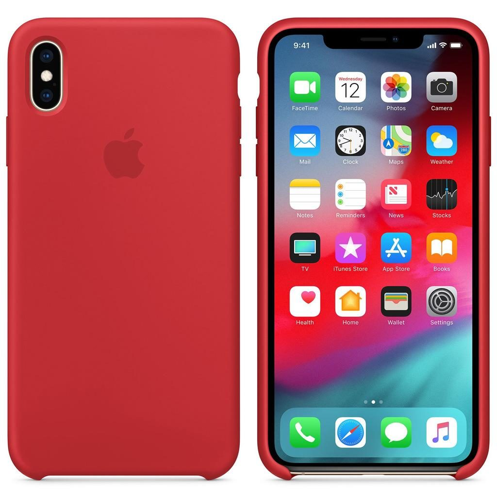 Apple MRWH2ZM/A iPhone XS Max Silicone Case - (PRODUCT)RED