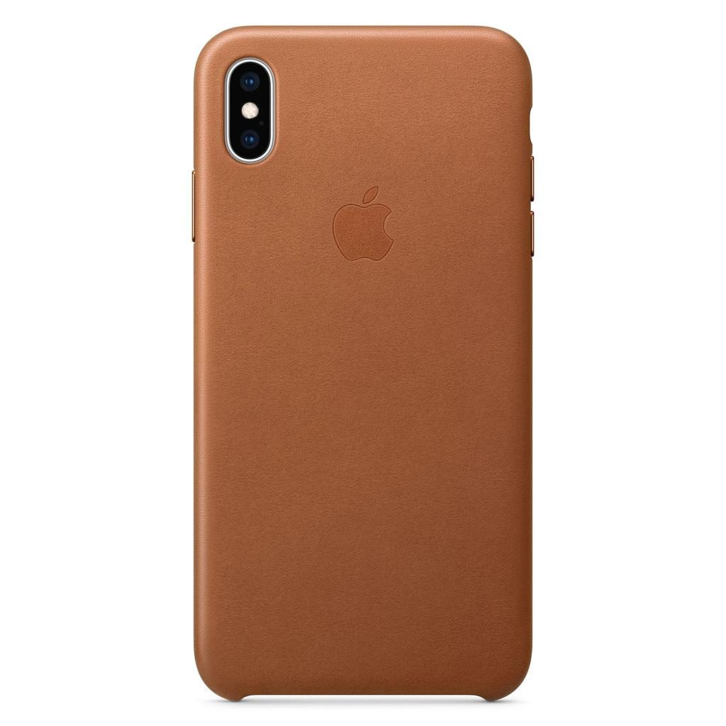 Apple MRWV2ZM/A iPhone XS Max Leather Case - Saddle Brown