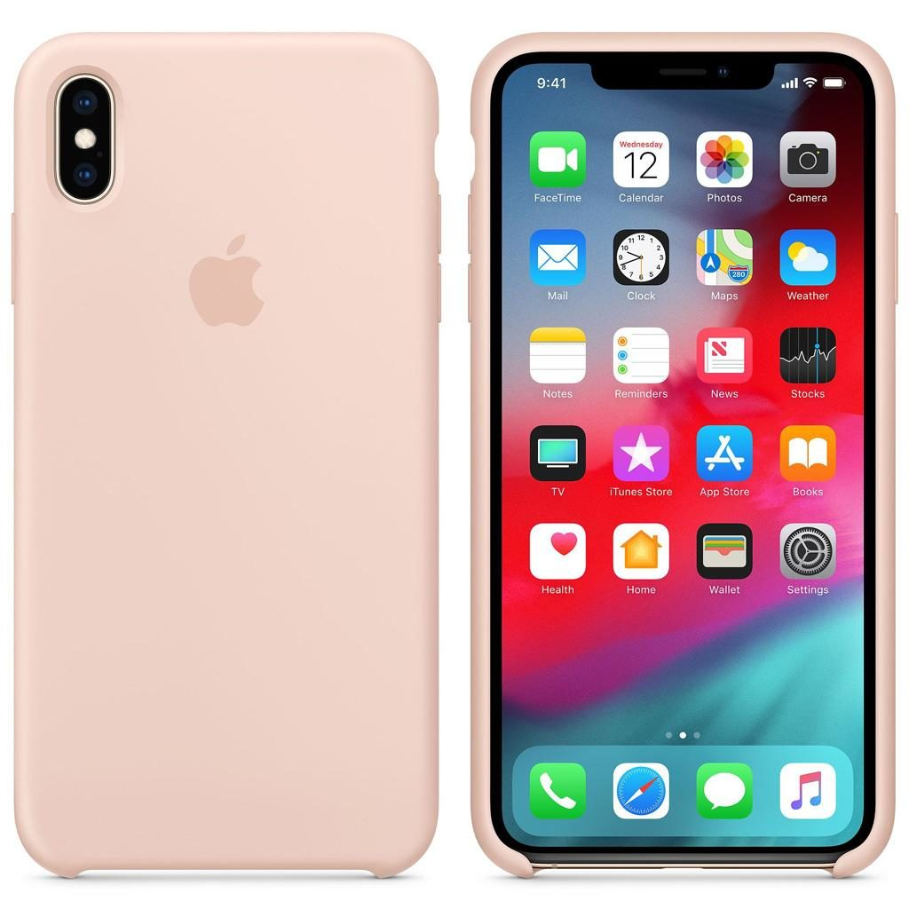 Apple MTFD2ZM/A iPhone XS Max Silicone Case - Pink Sand