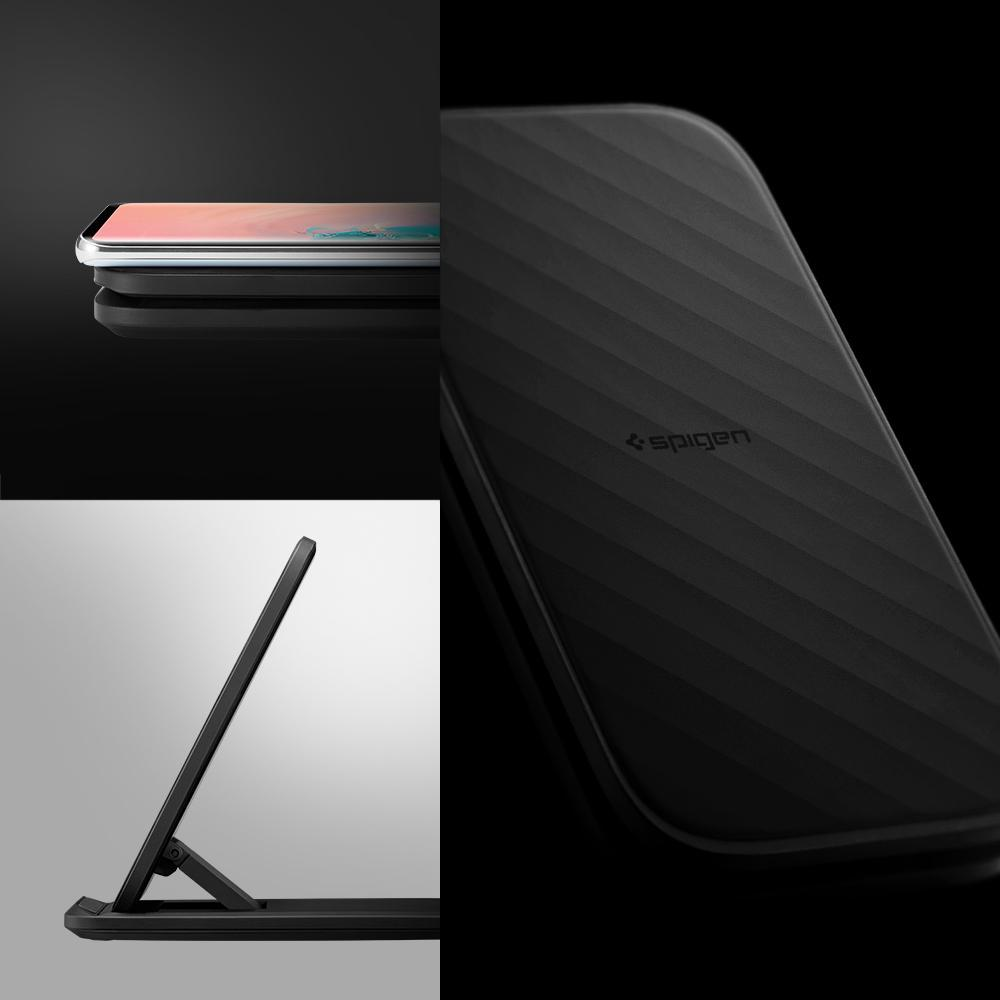 Spigen® Essential® F316W 000CH24979 Fast Wireless Charger with Quick Charge 3.0 Adapter - Black