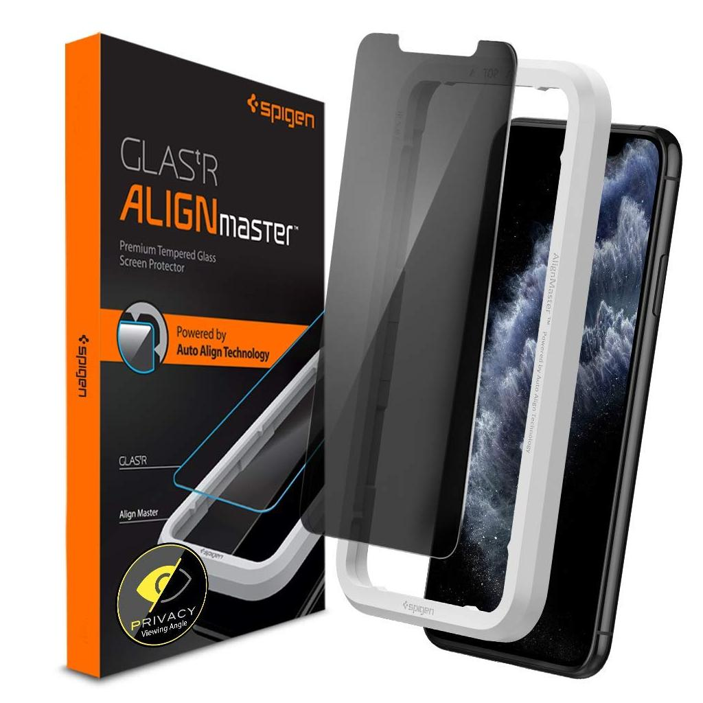 Spigen® GLAS.tR ALIGNmaster™ Privacy AGL00095 iPhone 11 Pro Max / XS Max Premium Tempered Glass Screen Protector