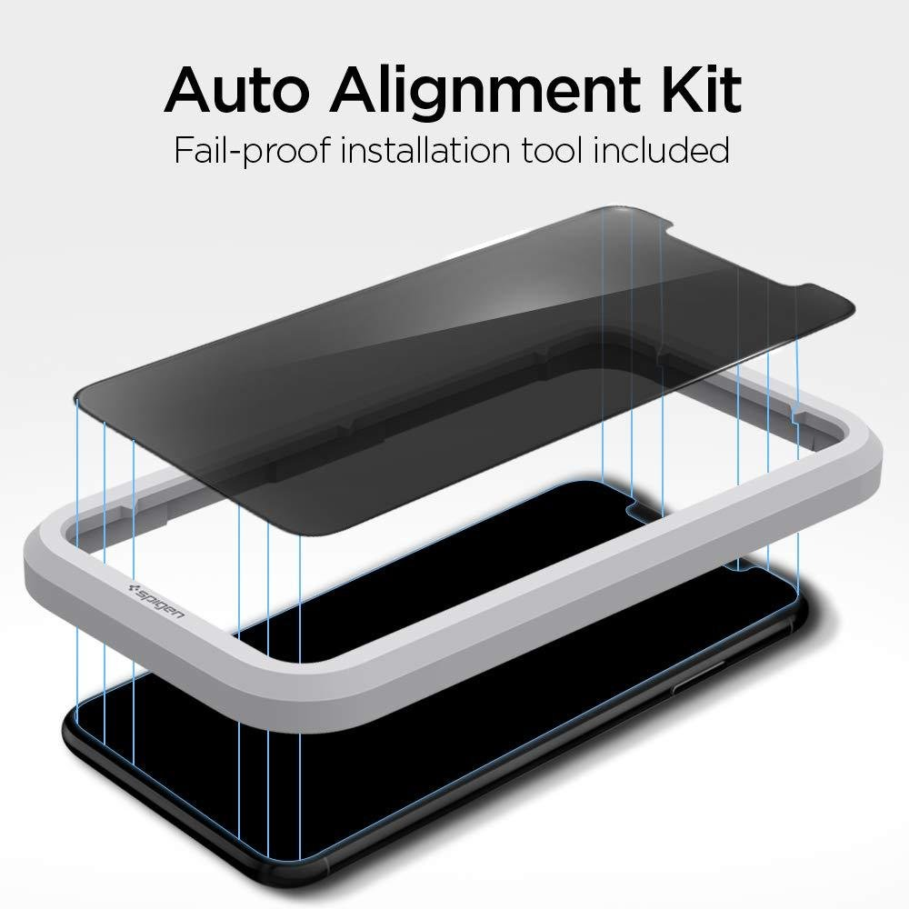 Spigen® GLAS.tR ALIGNmaster™ Privacy AGL00103 iPhone 11 / XR Premium Tempered Glass Screen Protector