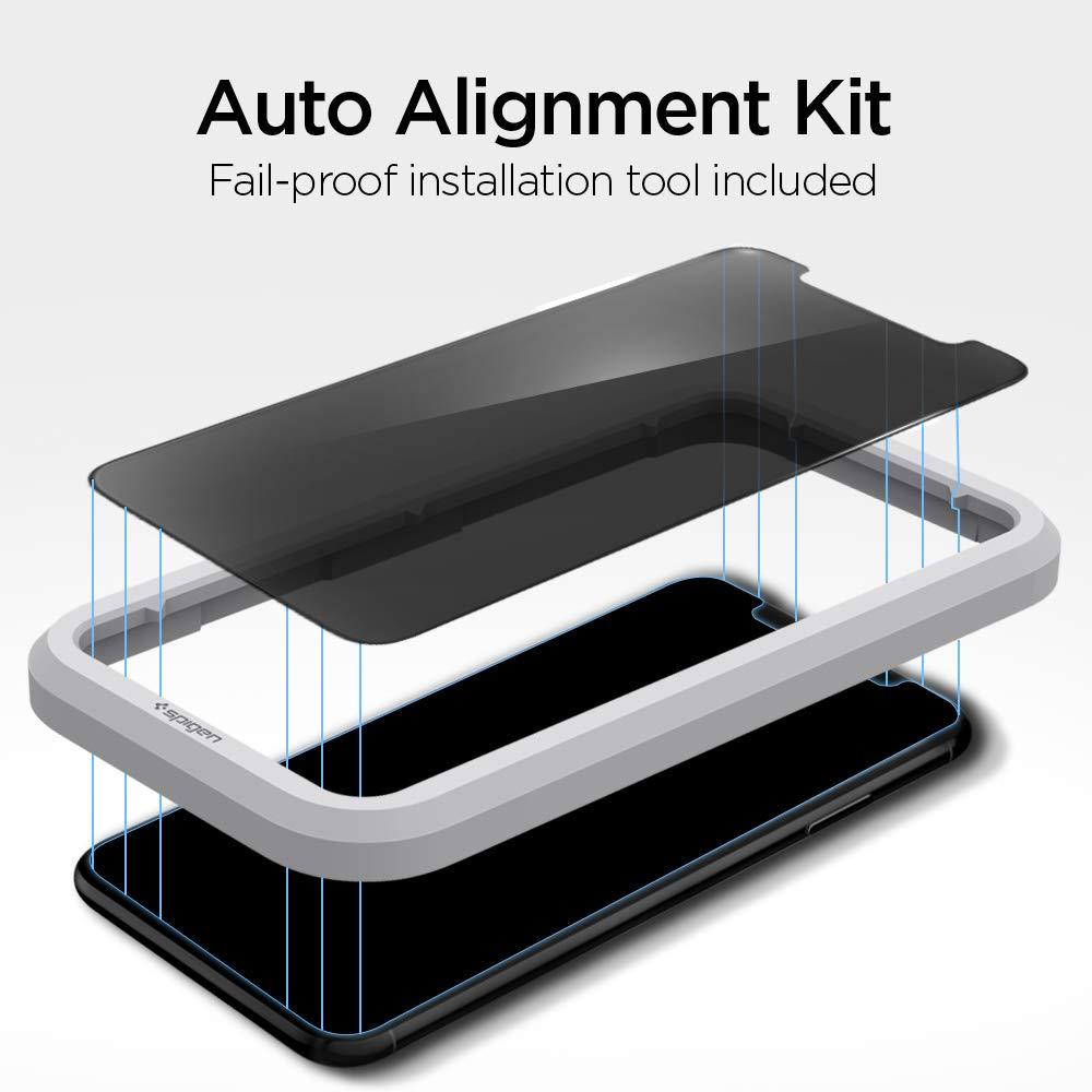Spigen® GLAS.tR ALIGNmaster™ Privacy AGL00111 iPhone 11 Pro / XS / X Premium Tempered Glass Screen Protector