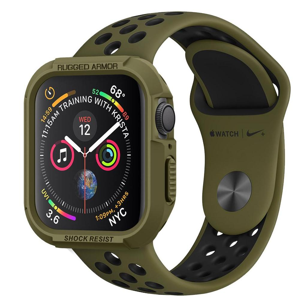 Spigen® Rugged Armor™ 062CS26015 Apple Watch Series 5 / 4 (44mm) Case - Olive Green