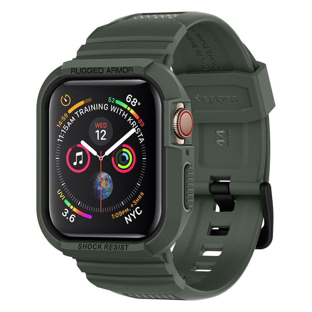 Spigen® Rugged Armor Pro™ 062CS26016 Apple Watch Series 5 / 4 (44mm) Case - Military Green