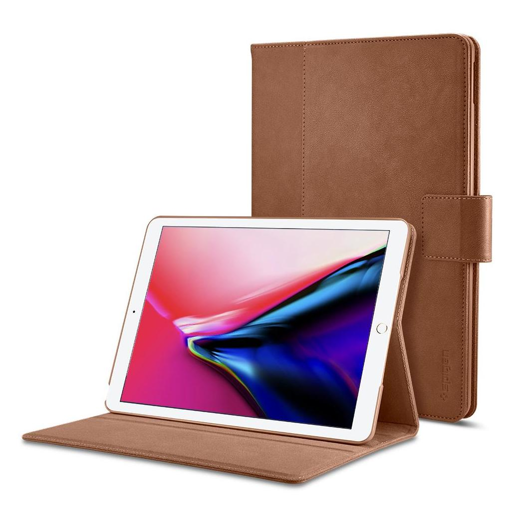Spigen® Stand Folio™ 053CS22391 iPad 9.7 (2018/2017) Case – Brown