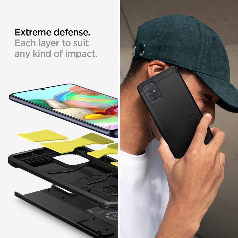 Spigen® Tough Armor™ ACS00933 Samsung Galaxy A71 Case – Black