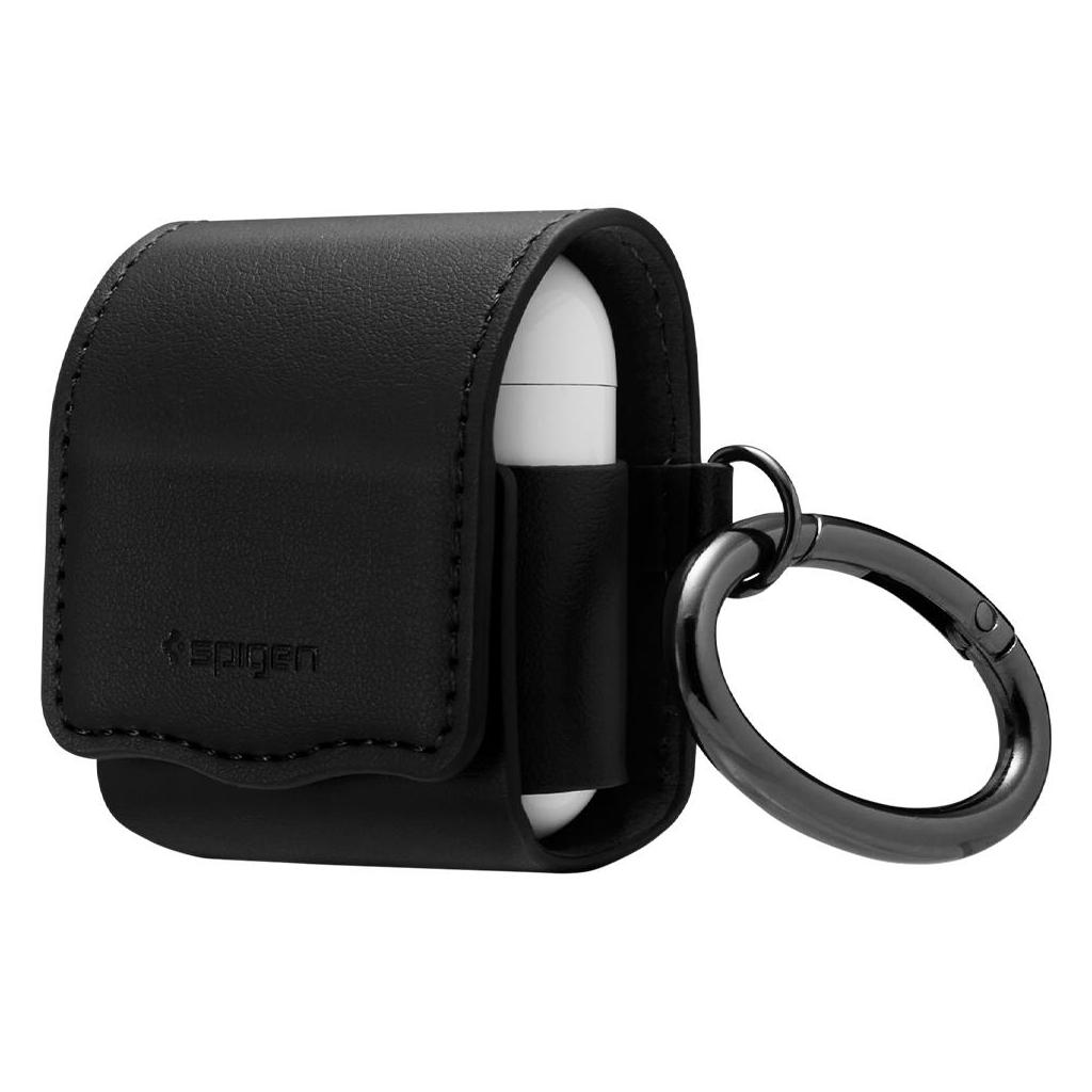 Spigen® Valentinus 074CS26413 Apple Airpods Leather Case - Black