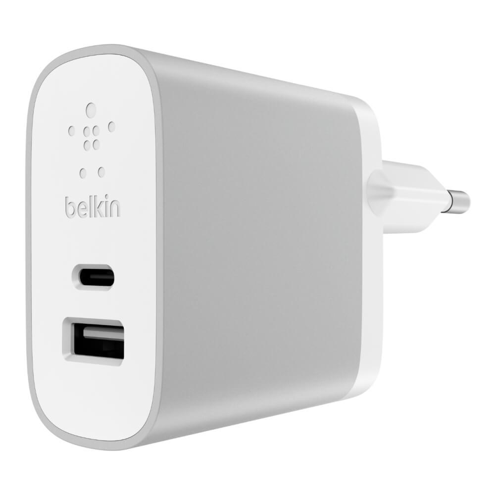 Belkin MIXIT↑® USB-C™ + USB-A F7U011vfSLV Home Charger - Silver