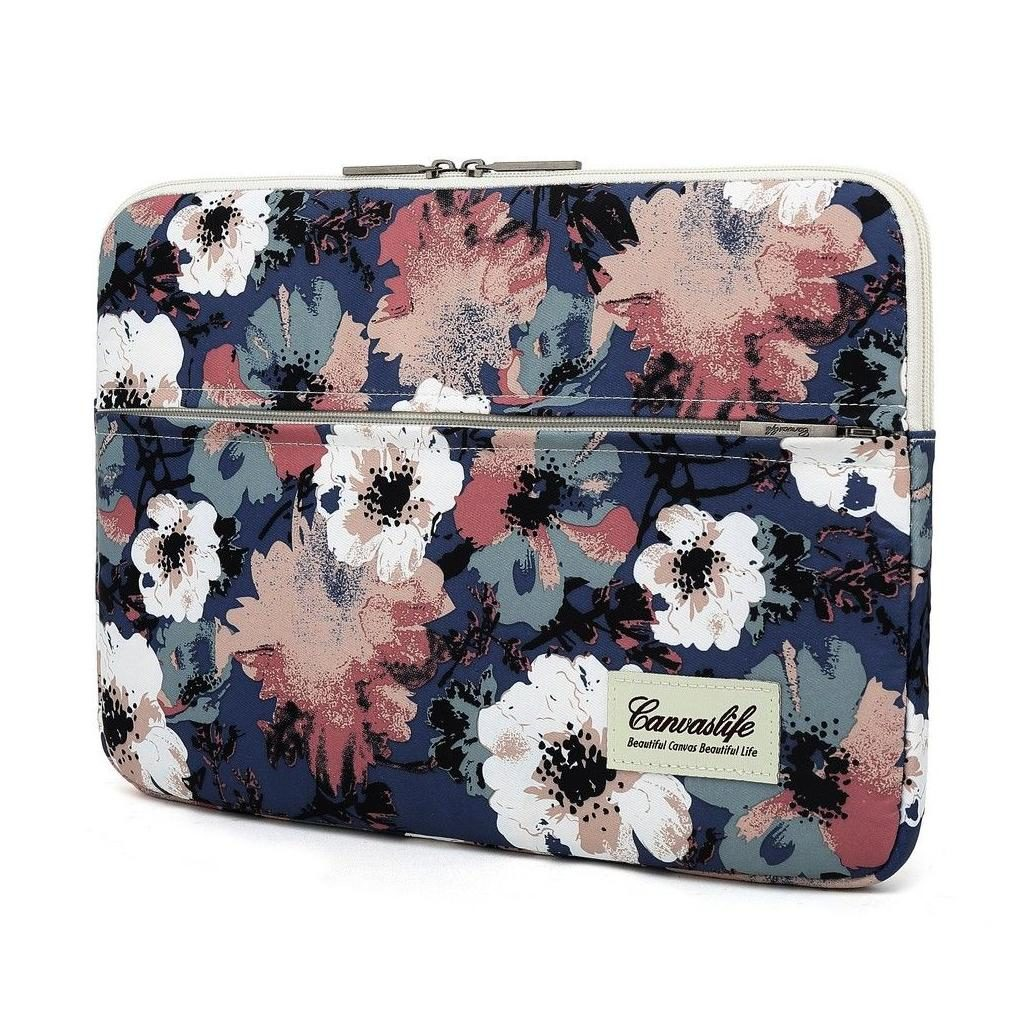 Canvaslife MacBook Air / Pro 13 Sleeve - Blue Camellia