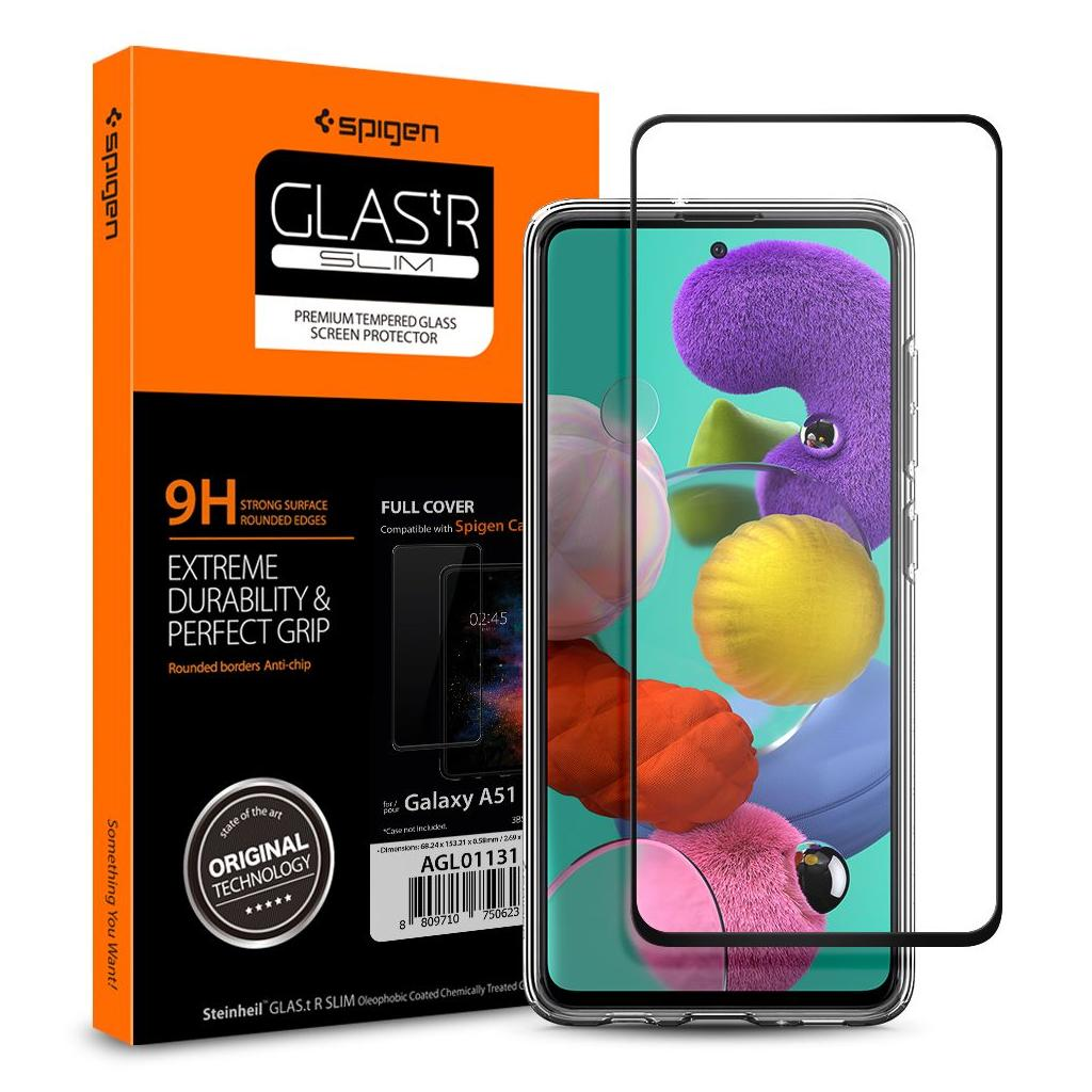 Spigen® GLAS.tR™ Full Cover AGL01131 Samsung Galaxy A51 Premium Tempered Glass Screen Protector