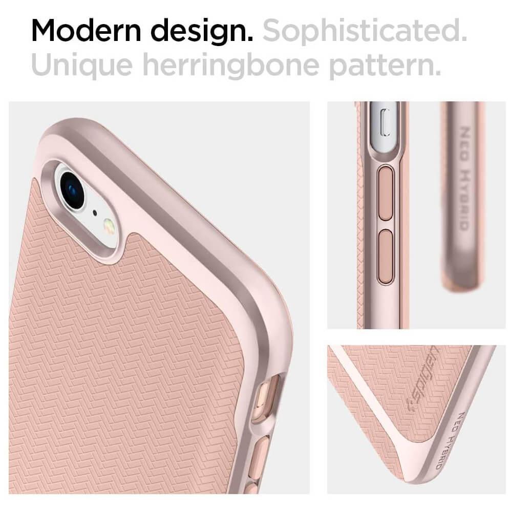 Spigen® Neo Hybrid™ Herringbone 054CS22202 iPhone SE (2020) / 8 / 7 Case - Pale Dogwood