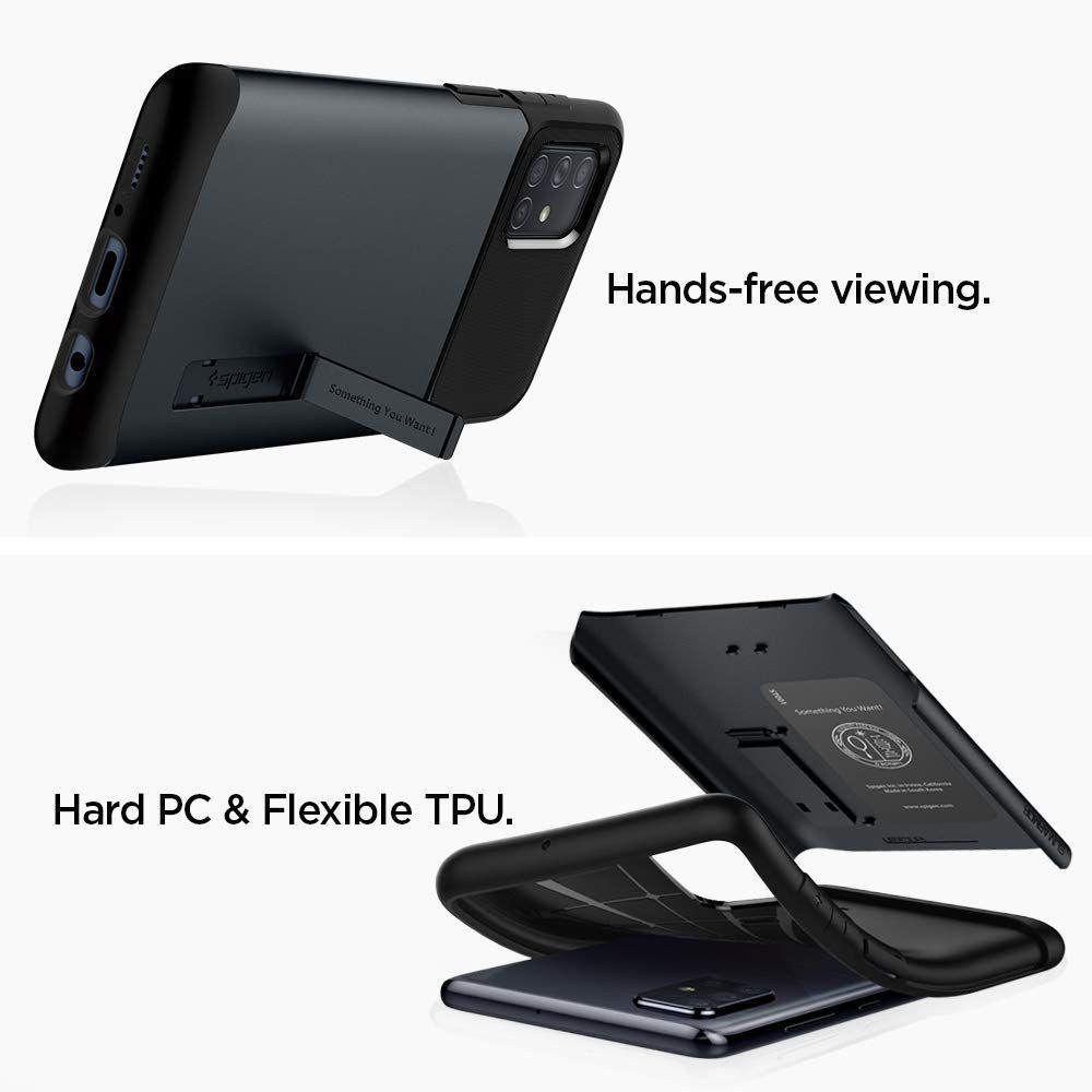 Spigen® Slim Armor™ ACS00821 Samsung Galaxy A71 Case - Metal Slate
