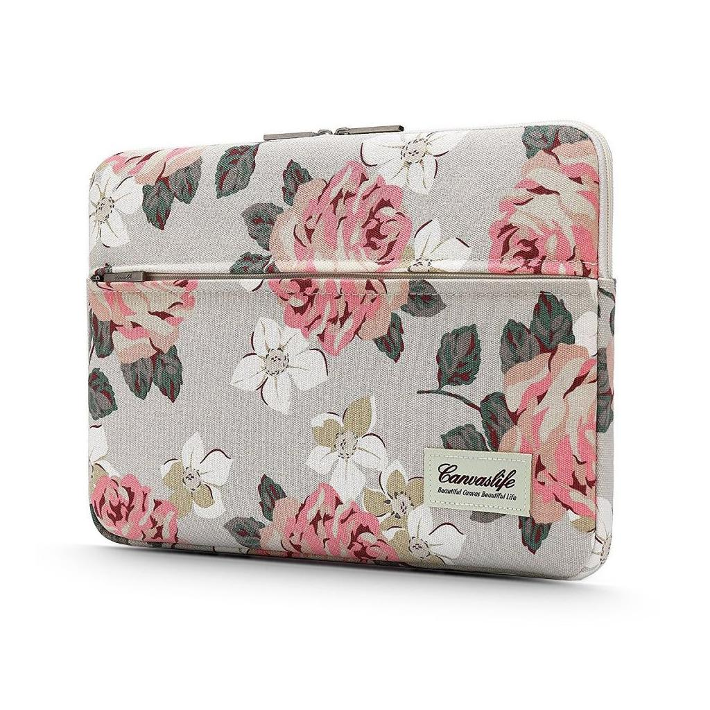 Canvaslife Laptop 16-inch / 15-inch Sleeve – White Rose