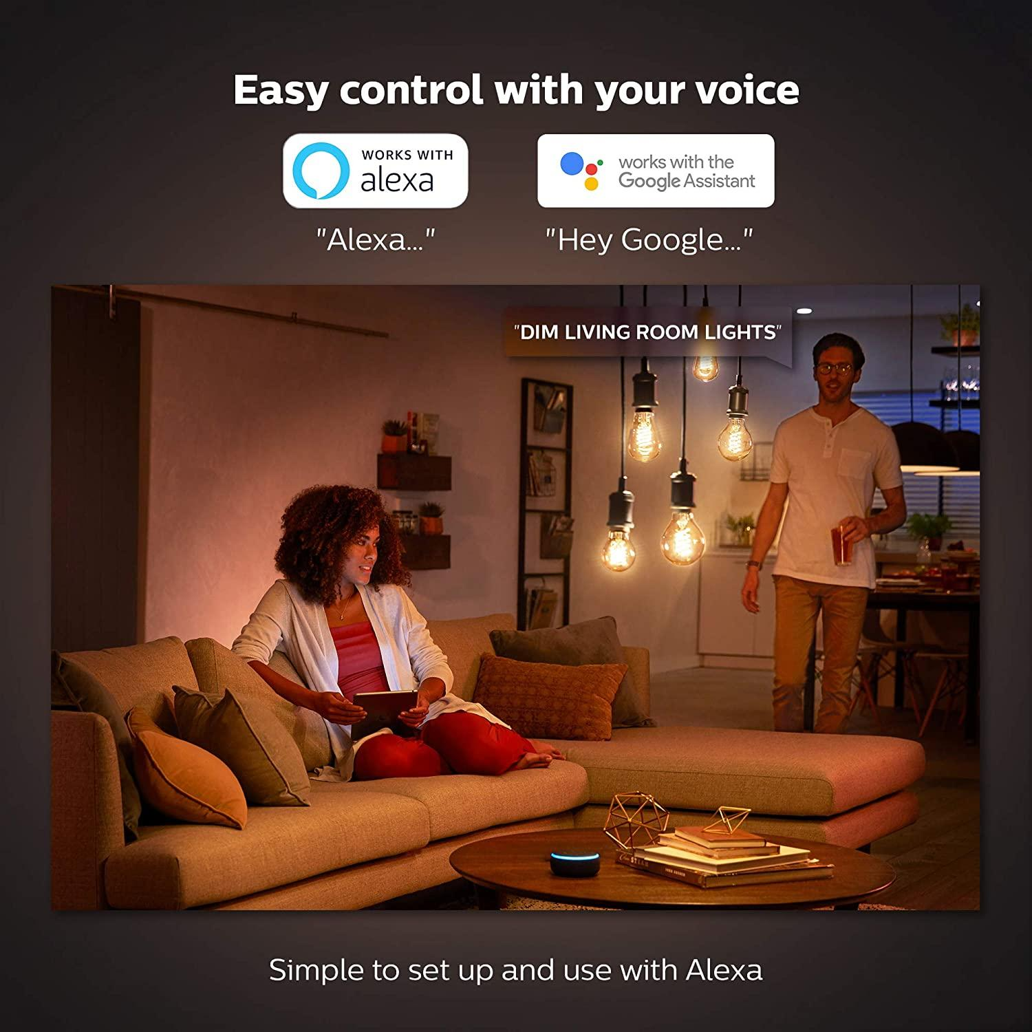 Philips Hue Filament ST64 E27 Bluetooth Smart Bulb – Flame