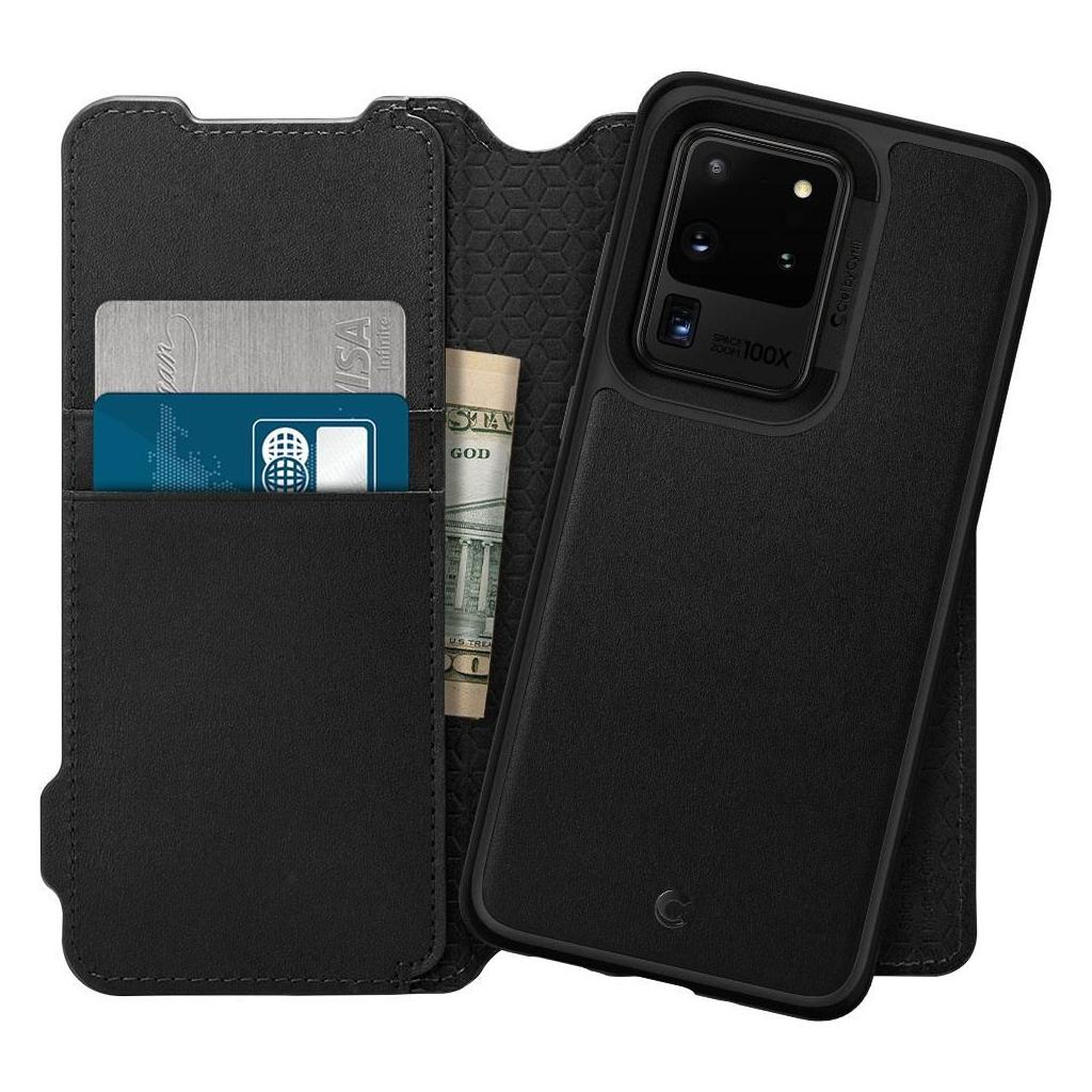 Spigen® Ciel by Cyrill Wallet Brick Collection ACS00732 Samsung Galaxy S20 Ultra Case - Black