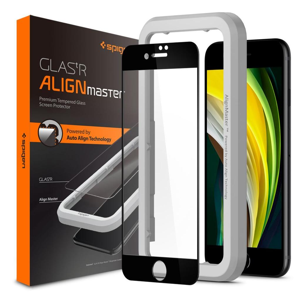 Spigen® GLAS.tR ALIGNmaster™ Full Cover AGL01294 iPhone SE (2020) / 8 / 7 Premium Tempered Glass Screen Protector