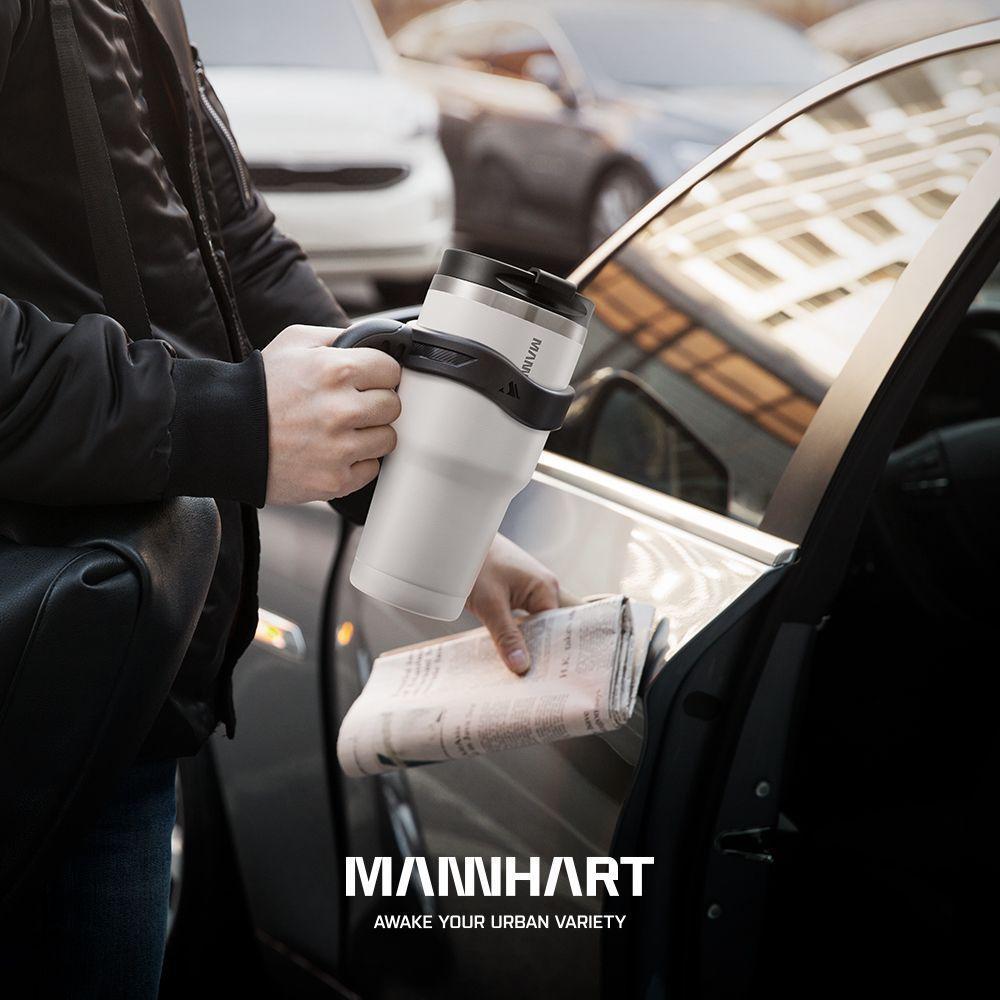 Spigen® Mannhart B201 Kubek 000HP26028 887ml Stainless Steel Travel Mug - White
