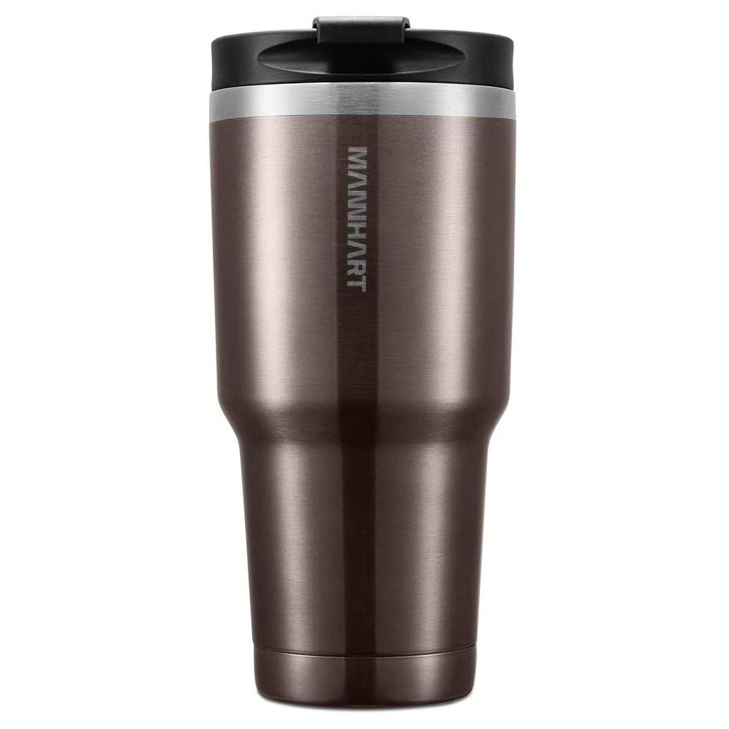 Spigen® Mannhart B201 Kubek 000HP26029 887ml Stainless Steel Travel Mug – Brown