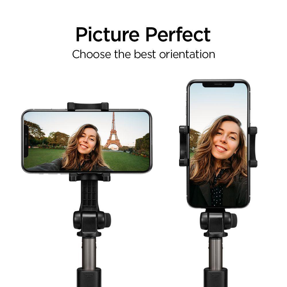 Spigen® S540W 000SS24611 Wireless Selfie Stick Tripod - Peach Pink