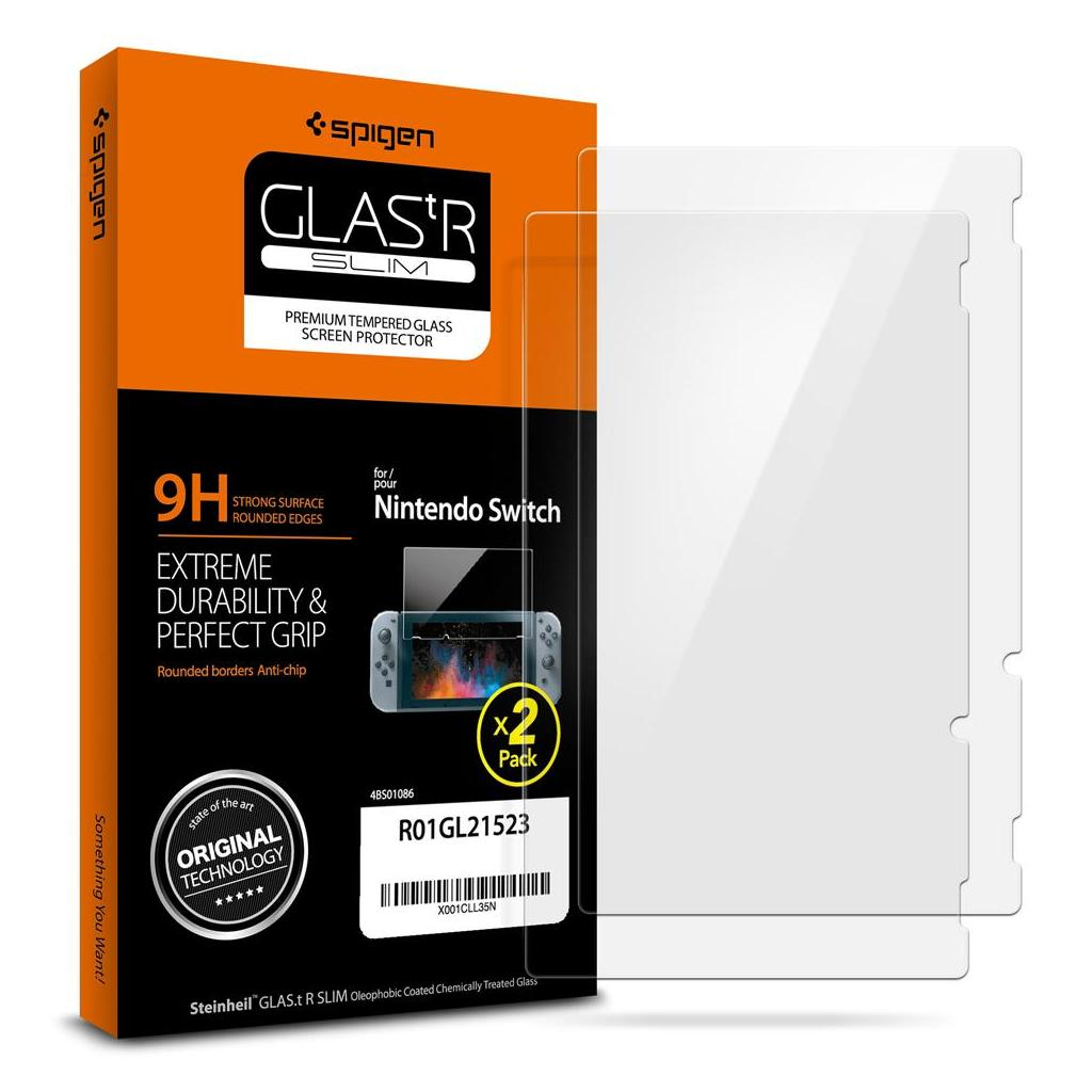 Spigen® (x2Pack) GLAS.tR™ R01GL21523 Nintendo Switch Premium Tempered Glass Screen Protector