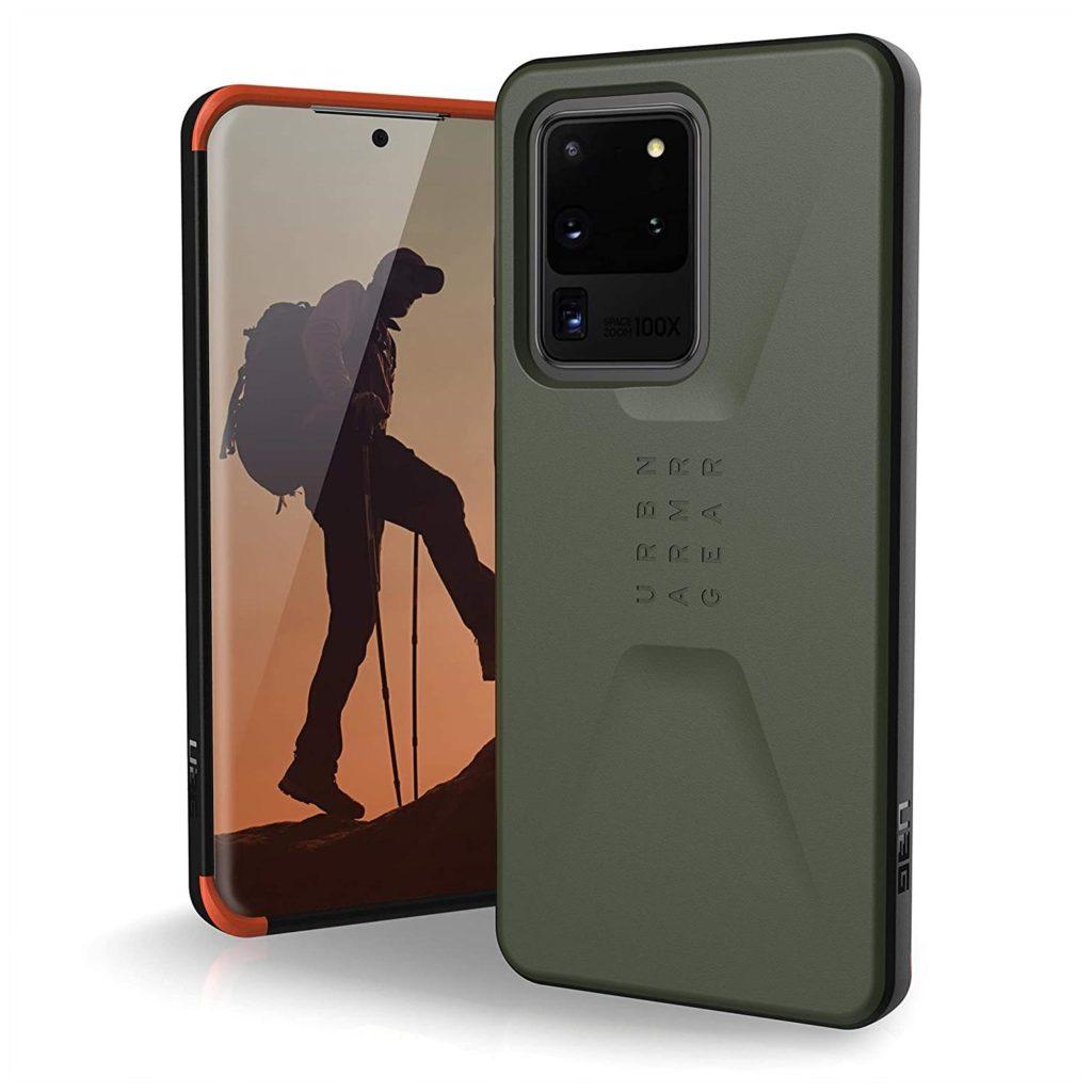 Urban Armor Gear (UAG) Civilian Samsung Galaxy S20 Ultra Case - Olive Drab