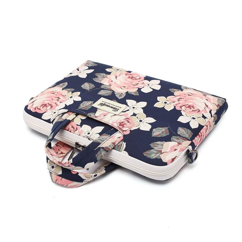 Canvaslife Laptop 14-inch / 13-inch Briefcase – Navy Rose