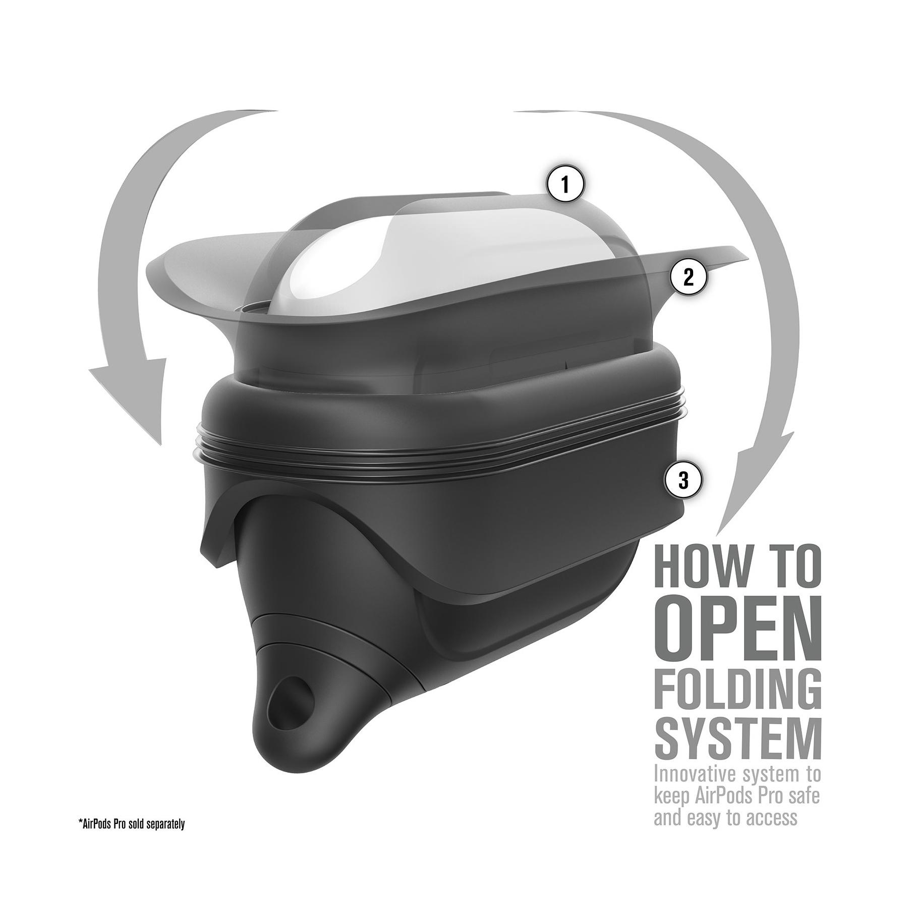 Catalyst Waterproof CATAPDPROBLK Apple AirPods Pro Case - Stealth Black
