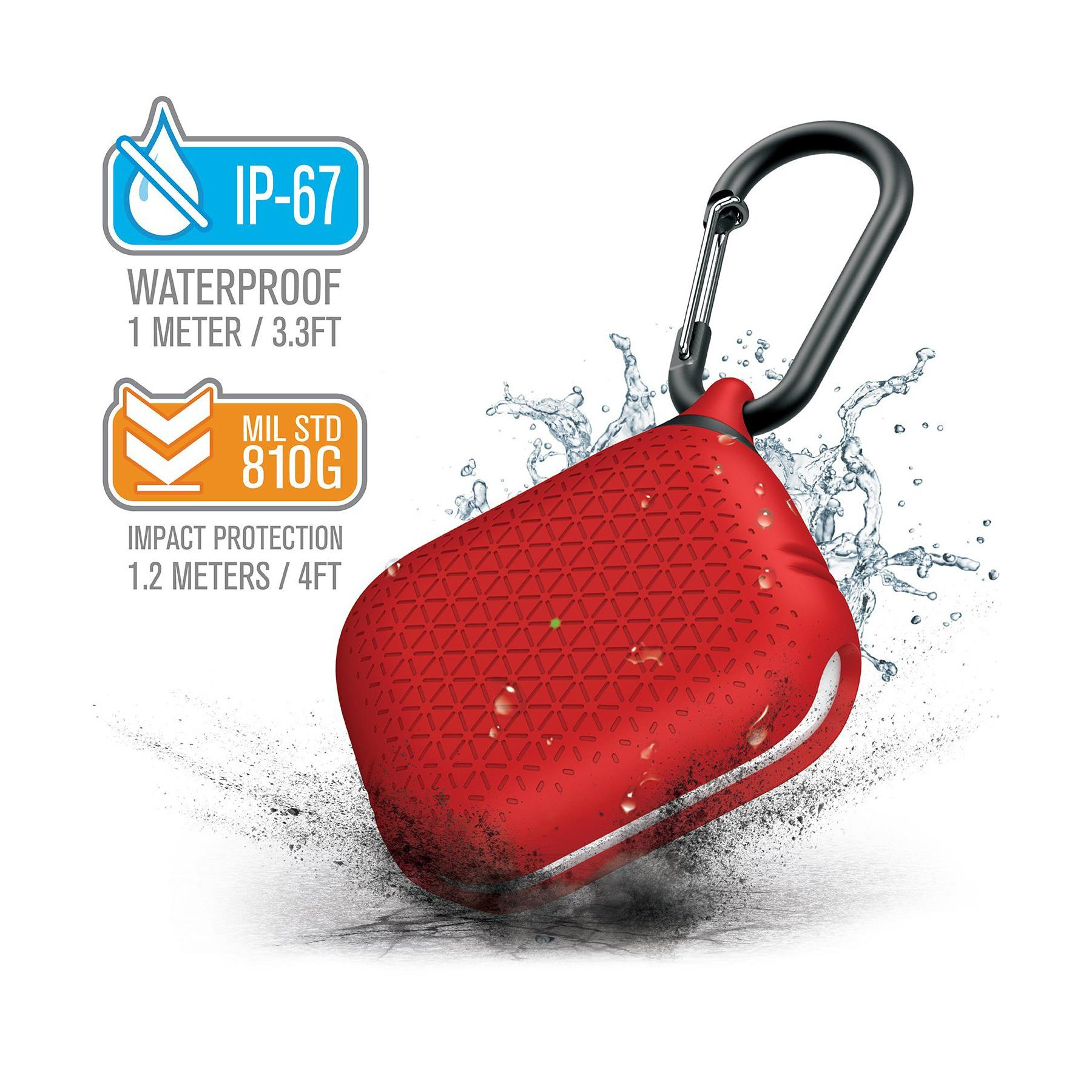 Catalyst Waterproof Premium Edition Apple AirPods Pro Case - Flame Red